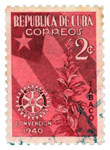 Issuing commemorative stamps to honor Rotary wasn't new to Cuba. Note the above 1940 issue commemorating the Rotary International Convention of 1940.