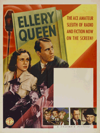 Ralph Bellamy and Margaret Lindsay in Ellery Queen, Master Detective (1940), already citing a nod to the Radio production