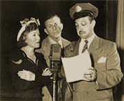 Radio, Film, Television and Animation's legendary 'man of a thousand voices' Mel Blanc appeared as 'Mr. Postman' and other wacky characters during the Burns and Allen Swan Soap run