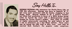 Here's the 'other' George Putnam, the announcer for Portia Faces Life (1941)