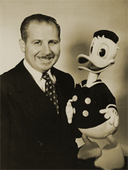 Clarence Nash, the original voice of Walt Disney's Donald Duck, voiced Herman the Duck during the first two seasons of Burns and Allen for Swan Soap