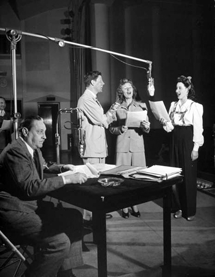 John Barrymore awaits his turn at the mike on The Rudy Vallee Sealtest Show circa 1942