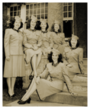 During the mid-1940s forward, a group of 44-60 female ex-GIs toured the U.S. as The Hormel Girls. They also appeared over Radio in several series' of their own.