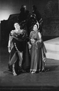 The Story of Oedipus and his gruesome fate, above portrayed by Sir Laurence Olivier with Sybil Thorndike as Jocasta, ca. 1945
