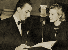 Fletcher Markle and Madeleine Carroll confer over 'A Farewell to Arms'