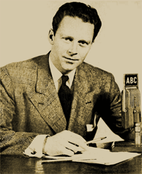 George Putnam at the ABC mike in 1948