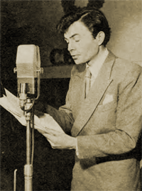 James Mason rehearses Studio One's 1947 Christmas program, 'Painted Veils'