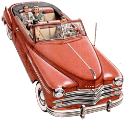 This was the sveltest vehicle in Chrysler's line-up. The 1949 Plymouth Cabriolet