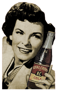 Mercedes McCambridge for Royal Crown Cola in 1950