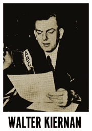Walter Kiernan at the ABC mike circa 1951