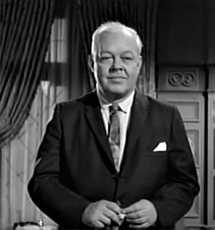Berry Kroeger as Rexford Wyler in The Case of The Wooden Nickels from Perry Mason (1964)