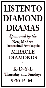 Original Diamond Dramas premiere spot ad from January 18 1934
