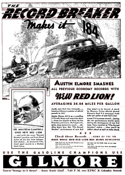 Gilmore Oil Company half page ad promoting the premiere of Strange As It Seems from March 18 1935