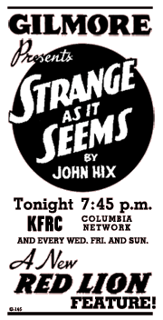 Premiere spot ad for Strange As It Seems from March 22 1935