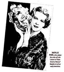 Natalie Park promotional article for I Want A Divorce from July 1937