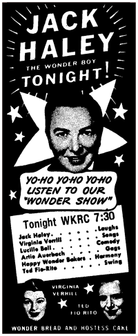 Spot ad for The Wonder Show from October 21 1938