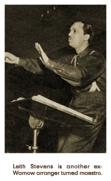 Caption: Leith Stevens is another ex-[Mark] Warnow arranger turned maestro (1938)