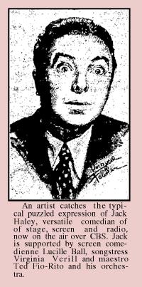 Jack Haley promo from December 2 1938