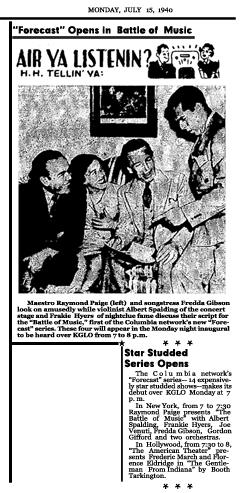Article announcing the first CBS Forecast season of 14 'preview' programs, dated July 15, 1940