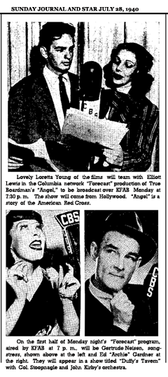 Article announcing the third set of CBS Forecast programs of Season One, dated July 29, 1940