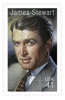 James Stewart was honored with a commemorative stamp as the 13th honoree in the Legends of Hollywood series on August 17 2007
