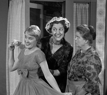 Elvia Allman appears as Henrietta Swanson in the Andy Griffith Show with Francis Bavier (1961)