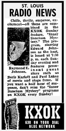 Inner Sanctum spot ad from 1942