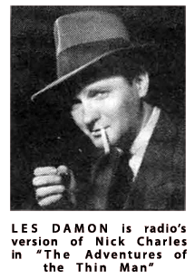 Les Damon as Nick Charles from the December 1942 issue of Movie Radio Guide