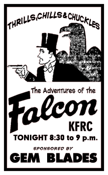 Mutual Broadcasting System Premiere spot ad from July 3 1945 for The Adventures of The Falcon