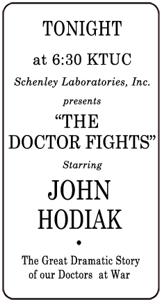 The Doctor Fights spot ad from August 21 1945