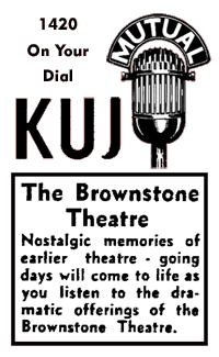 Brownstone Theater spot ad from August 26 1945