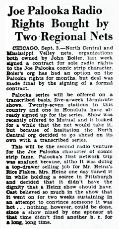 This 1945 article from Billboard hints at the real reason the 1932 series folded at 38 Episodes. Apparently Mrs. Heinz didn't care for the program.