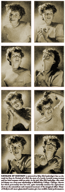 LIFE magazine recorded Mercedes McCambridge's range of expressions while reading lines from Portrait of A Girl (49-09-23)