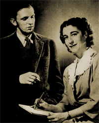 Hector Chevigny with his secretary Beatrice Dal Negro from 1946