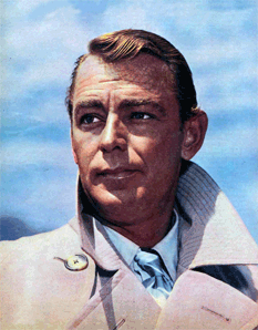 Alan Ladd in publicity photo for Box 13 as Dan Holiday