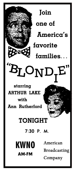 Spot Ad for very last Blondie program from July 6 1950