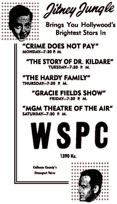 March30th 1952 Spot Ad for the MBS run of Crime Does Not Pay.