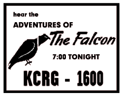 Premiere announcement of January 5 1953 for the return of The Adventures of The Falcon over Mutual starring George Petrie as Mike Waring, The Falcon