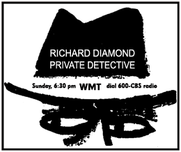 Premiere spot ad for Richard Diamond over CBS sponsored by Rexall from May 31 1953