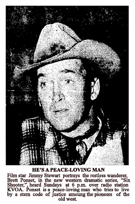 Spot article about Jimmy Stewart as the Six Shooter from December 5 1953