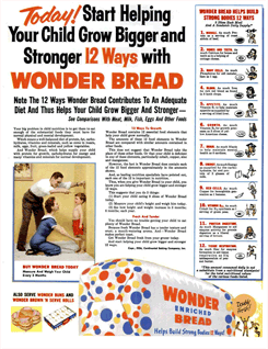 Wonder Bread Bakers ad from 1946