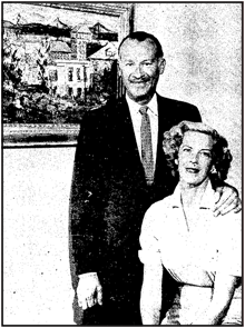 Natalie and Monty Masters circa 1957