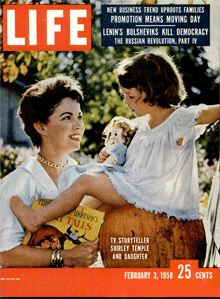 LIFE Magazine featured Shirley Temple Black in its February 3rd 1958 issue.