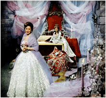 Shirley Temple as she appeared in her premiere of 'Shirley Temple's Storybook,' television program.