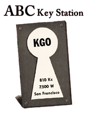 KGO became an ABC Key Station after the break up of NBC's Blue Network
