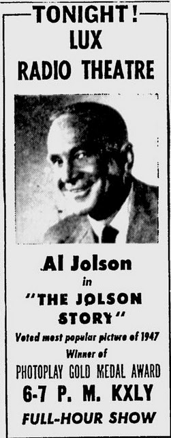 Lux Radio Theater Al Jolson