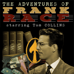 The Adventures of Frank Race mp3 cover art with Tom Collins