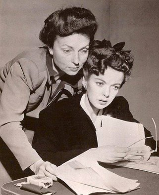 Agnes Moorehead and Ida Lupino
