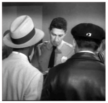 Leeds as a security guard in Alfred Hitchcock Presents (1957)