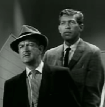 Jay Jostyn as Morgan with James Coburn in Alfred Hitchcock Presents